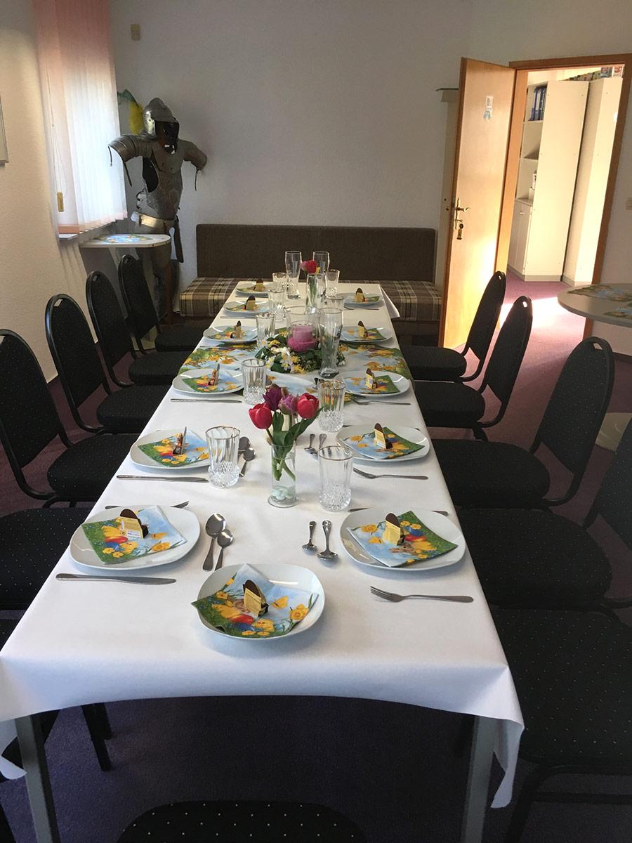 Raum für Familien-Feiern - Pension Kristen